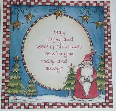 Christmas Joy, handmade Santa card