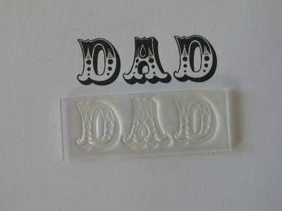 Dad stamp, Circus font