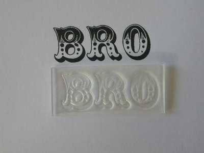 Bro stamp, Circus font