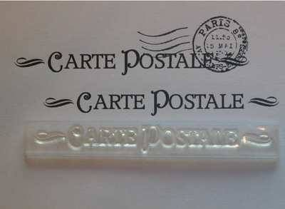 Carte Postale, deco stamp