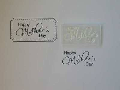 Happy Mother's Day, 3.4cm script stamp