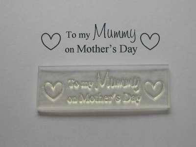 To my Mummy on Mother's Day