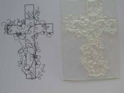 Easter Floral Cross stamp