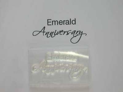 Emerald Anniversary script stamp