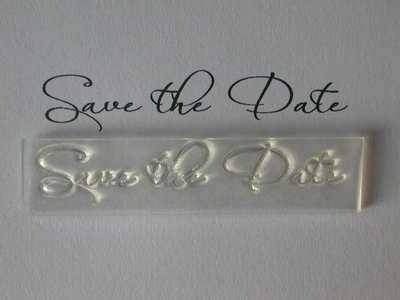 Save the Date script stamp