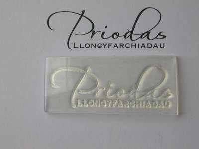 Welsh Wedding Congratulations script stamp