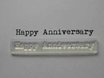 Happy Anniversary typewriter stamp