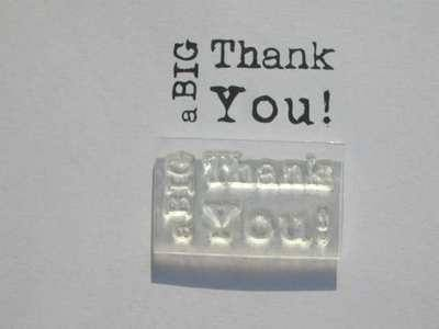 a BIG Thank You! typewriter stamp