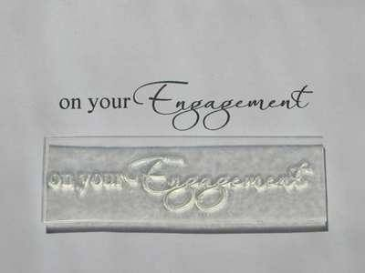 On your Engagement, script stamp