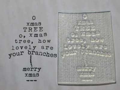 Christmas Tree typewriter stamp