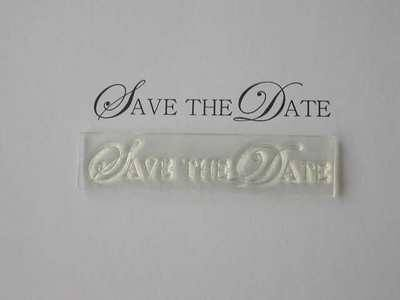 Save the Date, upper case stamp