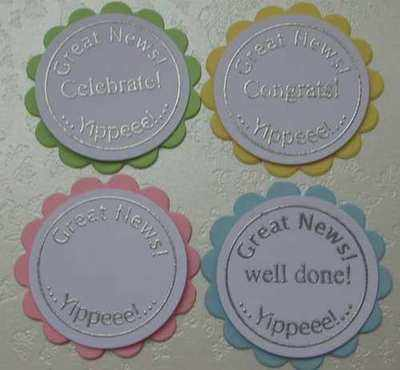 Circle & Words stamps