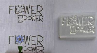 Flower Power stamp