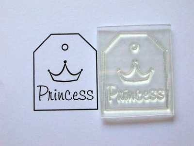Princess, tag stamp with crown