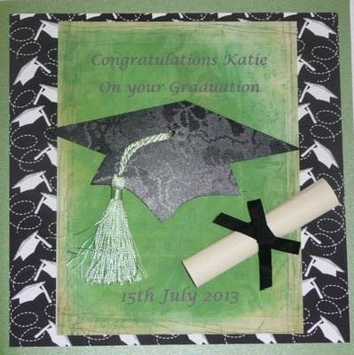Graduation card, personalised