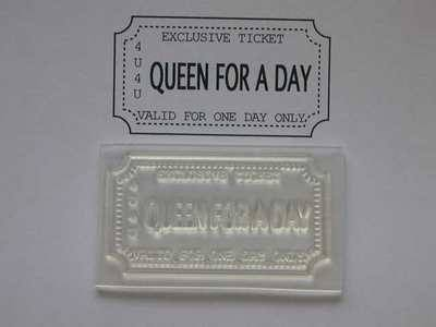 Ticket stamp for women, Queen for a Day