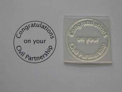 Congratulations Civil Partnership, circle stamp
