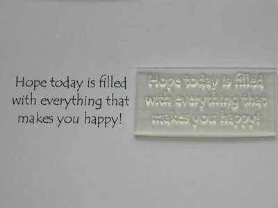 Everything that makes you happy, verse stamp