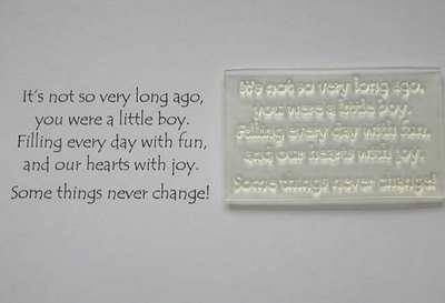 Birthday Boy, verse stamp