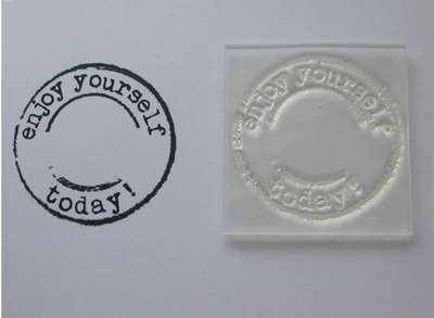 Enjoy yourself today! grunge circle stamp