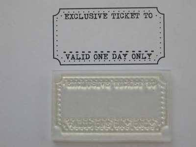 Exclusive Ticket stamp to fit Tim Holtz die