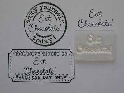 Eat Chocolate! little words stamp