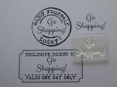 Go Shopping! little words stamp