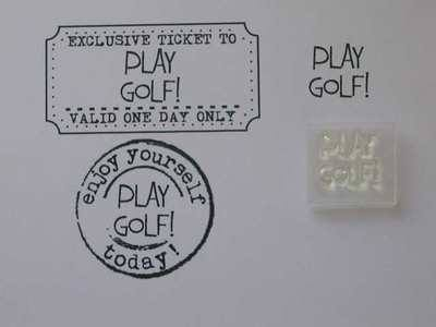 Play Golf! little words stamp