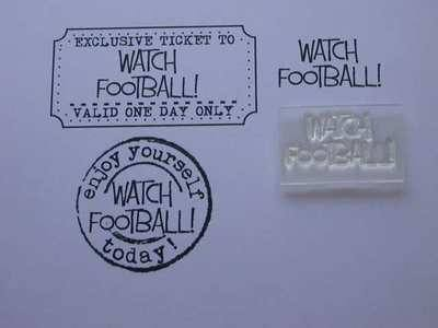 Watch Football! little words stamp