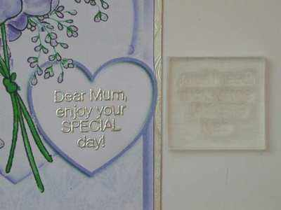 Dear Mum, enjoy your Special Day!