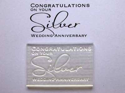 Congratulations on your Silver Anniversary, stamp