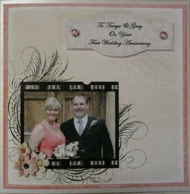 Anniversary or Wedding Card with Photo