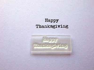 Happy Thanksgiving typewriter stamp