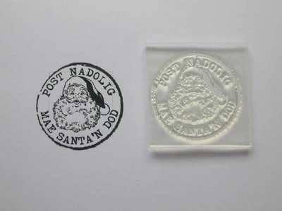 Welsh Christmas Postmark stamp, Santa's Coming