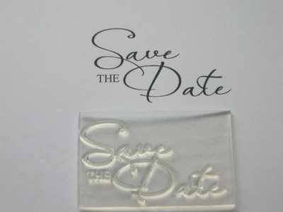 Save the Date, 2-line script stamp