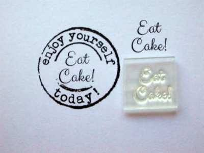 Eat Cake! little words stamp