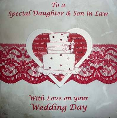 Special Daughter and Son-in-Law Wedding card