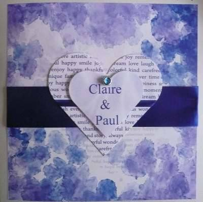 Wedding Card, personalised
