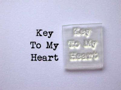 Key to my Heart, little typewriter stamp