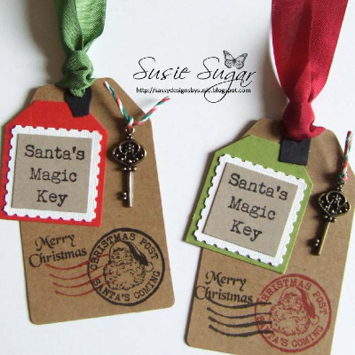 Santa/'s Magic Key Christmas Clear Craft Stamp for Handmade Tags and Cards