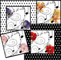 Floral, music & dots digi toppers