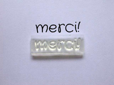 French Thank You stamp