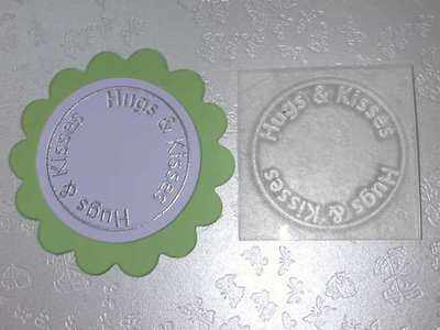 Hugs & Kisses, circle stamp