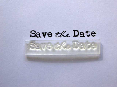 Save the Date, typewriter stamp