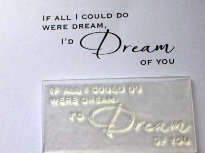 If all I could do were Dream, clear stamp