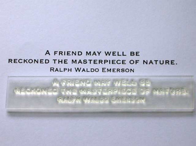 Masterpiece of Nature, quote stamp