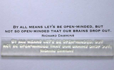 Let's be open-minded, quote stamp