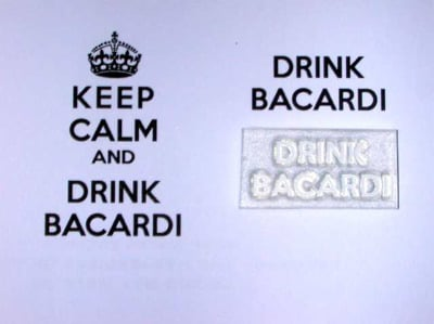 Drink Bacardi, for Keep Calm and, stamp