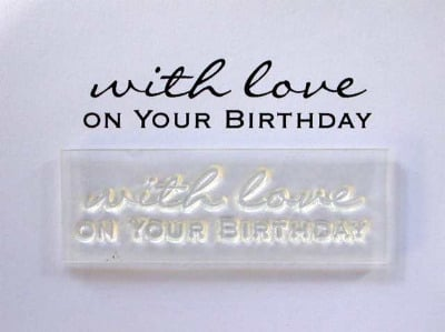 With love on your Birthday stamp