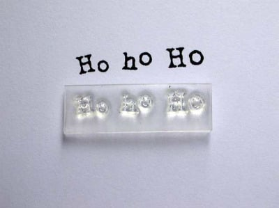 Ho ho Ho little typewriter stamp